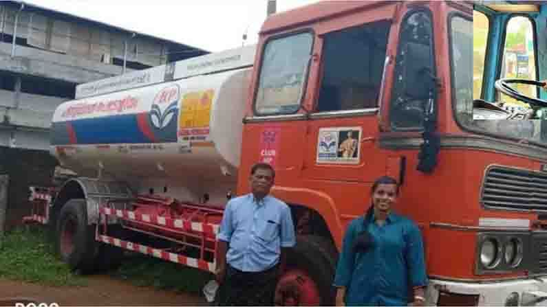 Delisha Davis From Kerala Drives A Fuel Tanker Lorry