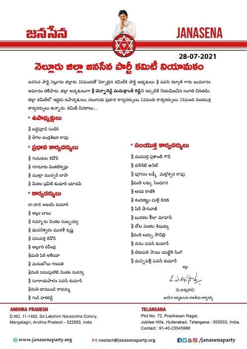 Janasena Nellore Committee