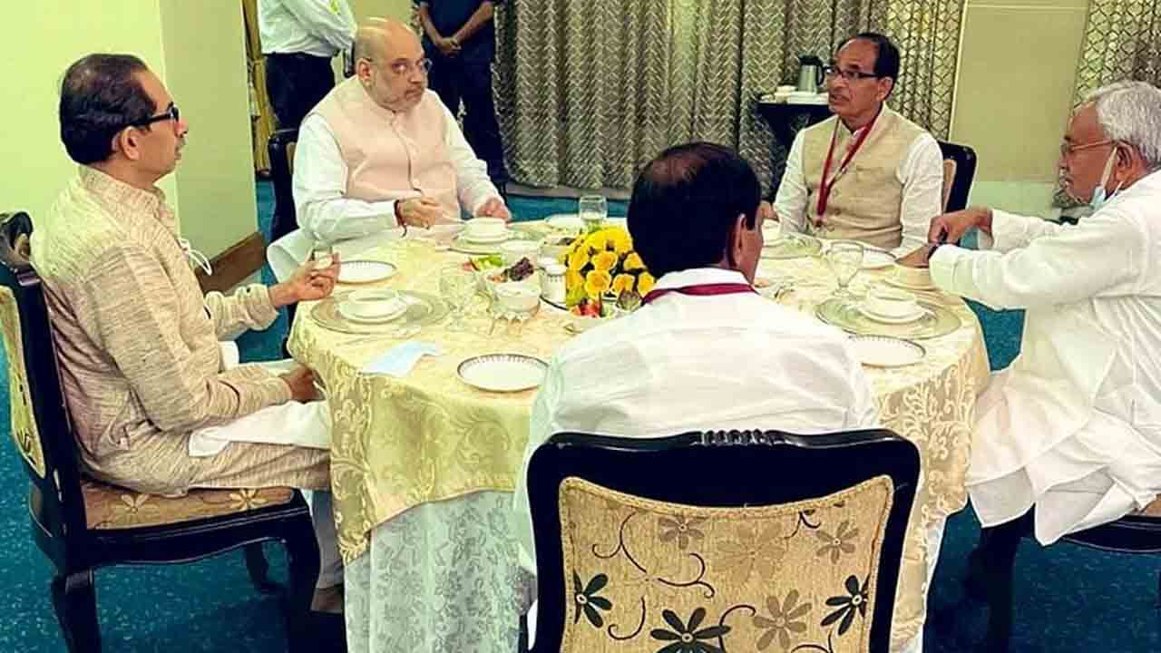 Amit Shah Lunch Meet With Cms