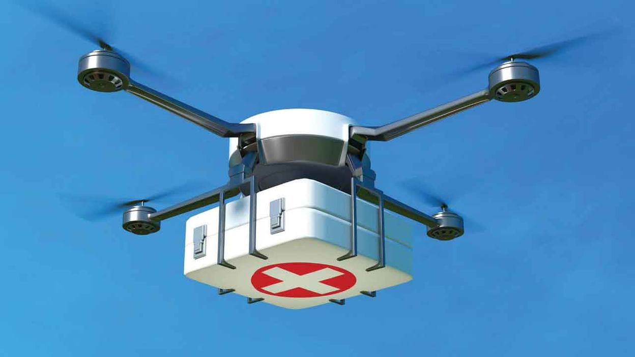 Medicine from the Sky: చరిత్ర సృష్టించనున్న తెలంగాణ.. దేశంలో తొలిసారి  డ్రోన్ల ద్వారా మెడిసిన్.. నేడే శ్రీకారం   Telangana to launch Medicine from  Sky program to deliver medicines ...
